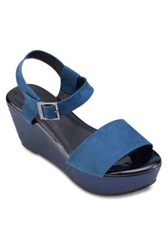雙色繞踝楔型鞋, 女鞋, esprit分店鞋