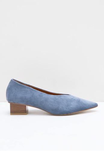 Berrybenka Label blue Lobya Octarina Suede Chunky Heels Blue 3F251SH935C010GS_1