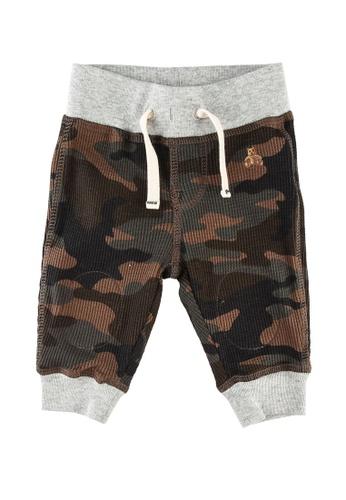 GAP green Baby Mix & Match Waffle Knit Pull-On Pants 869E5KA263AAE4GS_1