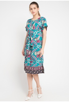 Dress Ikat Turchese 1D3C9AAF8B2248GS 1 931d2de66c