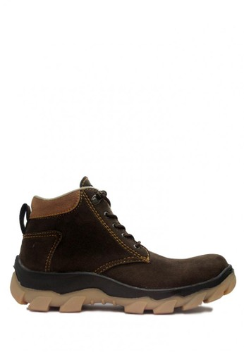 D-Island brown D-Island Shoes Safety Boots Radial Rider Suede Leather Dark Brown DI594SH01ABYID_1