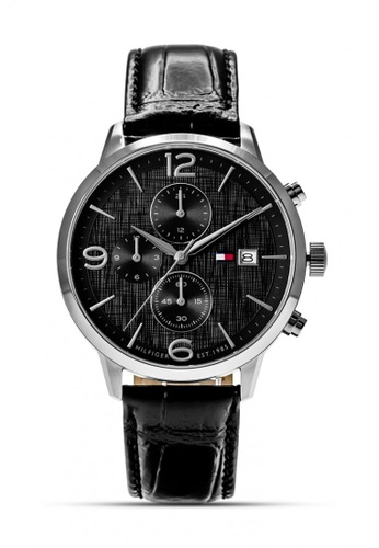 Tommy Hilfiger Watches black Men's Leather Strap Watch TO959AC0KRC7PH_1