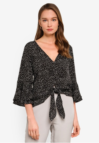 REUX black Tilly Tie Top 5A96AAA7CCC1DFGS_1
