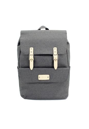 ideer grey Skylar Grey 390 - Water Repellent Nylon Laptop Backpack CAEF3AC2B2C64FGS_1