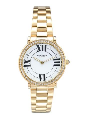 Akribos XXIV gold Swarovski Crystal Watch E76BBAC552B0ADGS_1