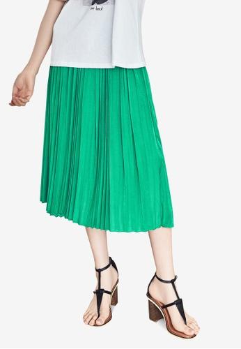 NAIN green Pleated Skirt 926EFAA7B05FEFGS_1