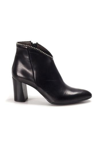 Shu Talk black XSA Classy Elegant Pointy Ankle Heels Boots D7B01SH66A69F9GS_1