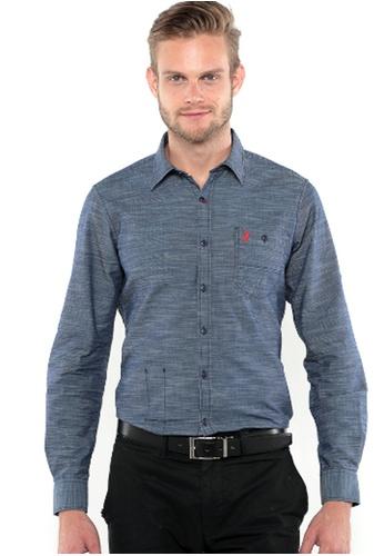 POLO HAUS blue Polo Haus - Long Sleeve (Dark Blue) PO783AA32YLRMY_1