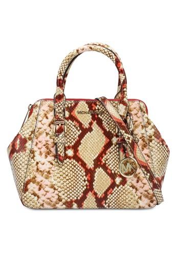 MICHAEL KORS orange Charlotte Md Messenger Bag (nt) 91FA2AC42CC738GS_1