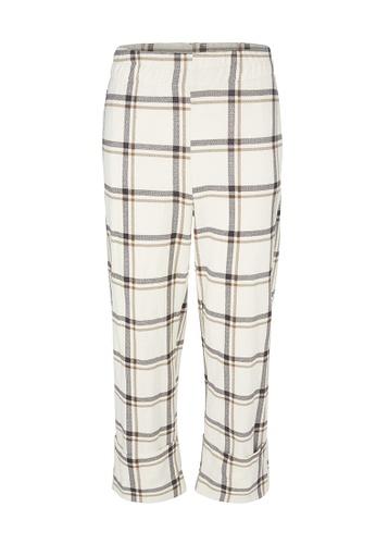 Gen Woo beige Plaid Peg Trouser By Gen Woo 9A24CKA11FF991GS_1