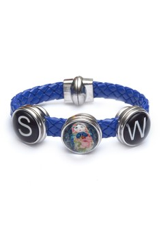 Pre-styled Woven 3-Snap Bracelet