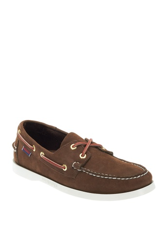 Sebago brown Docksides Boat Shoes 543D3SH47733ADGS_1