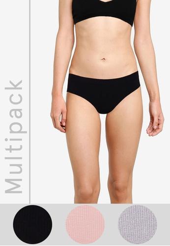 Cotton On Body multi Seamless Bikini Cut Briefs 3 Pack 6AD13USF99B13DGS_1