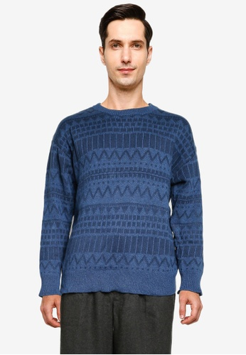 niko and ... blue Knit Pullover 1D5C1AA2D860FCGS_1
