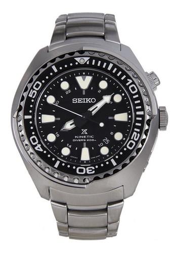 Seiko silver Seiko Prospex Jam Tangan Pria - Silver Black - Stainless Steel - SUN019P1 Kinetic Divers SE382AC0W73YID_1