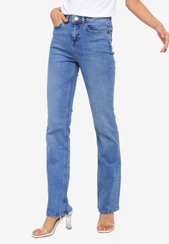 1cd2c563 Buy Dorothy Perkins Mid Wash 'Kick Flare' Jeans   ZALORA HK