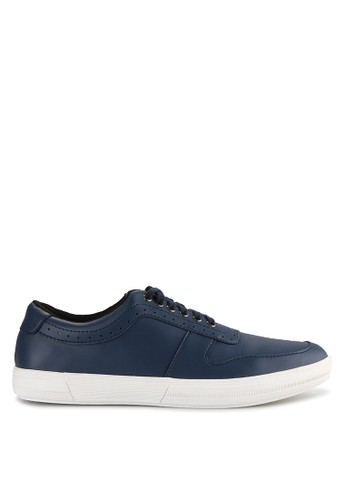 Kent & Crew navy Faux Leather Sneakers KE584SH72HRZID_1