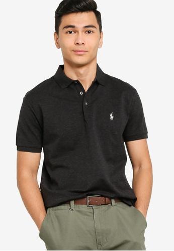 polo ralph lauren 黑色 Short Sleeve Polo Shirt - Stretch Mesh 2DA0BAA485C6B5GS_1