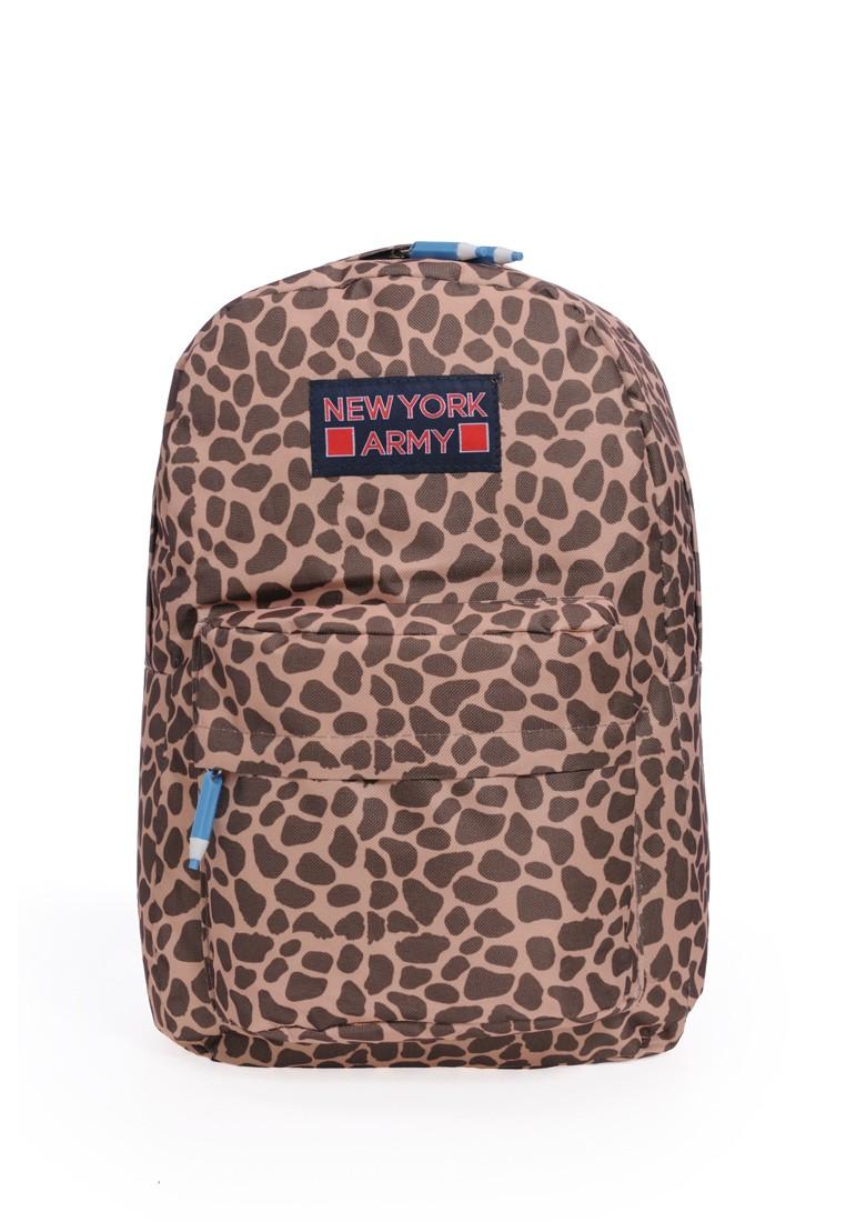 Newyork Army N7340 Brown Cheetah Backpack