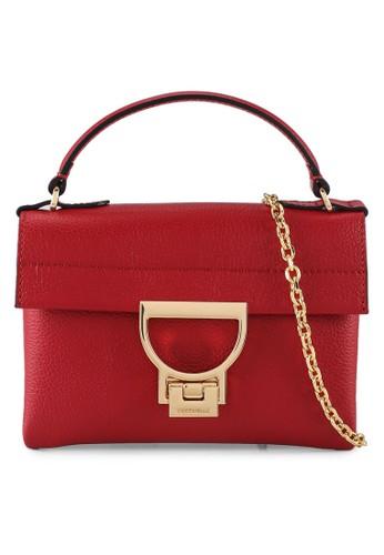 Coccinelle red Mignon Flap Top-handle Bag A8703AC7479649GS_1