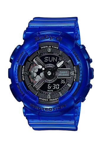CASIO blue Casio Baby-G Tandem Black and Blue Resin Watch 4DFFDAC0ACCBF2GS_1
