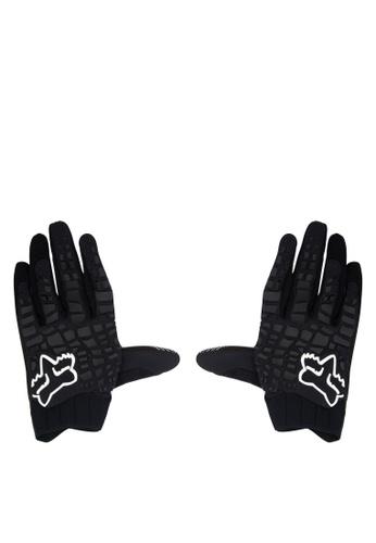 Fox Racing black Sidewinder Gloves FO276AC0JWHAPH_1