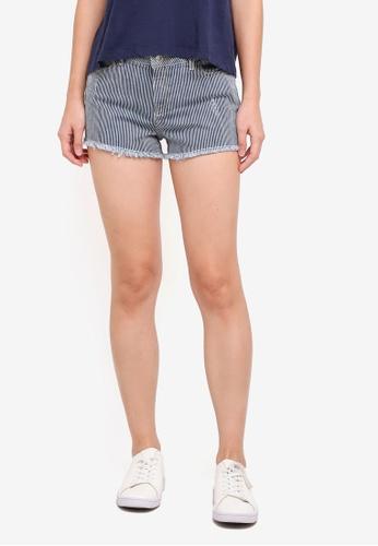 Miss Selfridge blue Striped Epp Shorts 573A3AAB790A3BGS_1