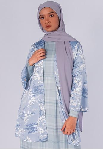 Zaryluq blue Bloom Kimono in Forget-Me-Not 8DB2DAA7F1B17EGS_1