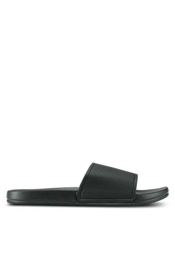 Topman black Black Kuba Rubber Sliders EA977SH387B8FFGS_1