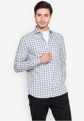Cortefiel grey Vichy Plaid Long Sleeve Shirt 319FFAA4321E1DGS_1