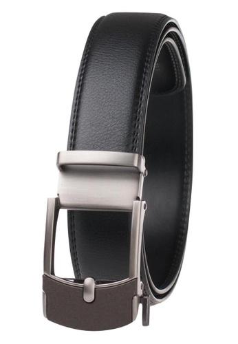 FANYU grey Leather Dress Belt With Automatic Buckle belt DBA10ACF7D4BD9GS_1