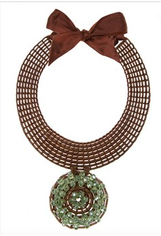 Lingay Solo Pendant with Crystal Beads