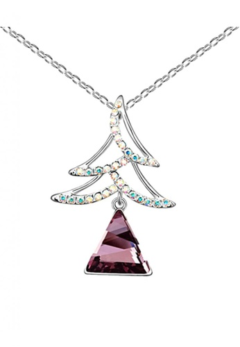 LOVENGIFTS white and purple and silver LOVENGIFTS Collection Wish Tree Necklace (Violet) LO429AC35HOAMY_1