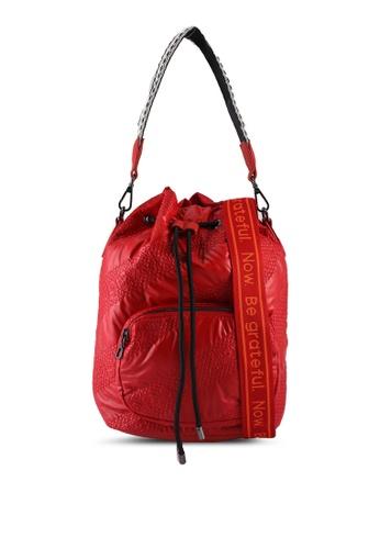 Desigual red Padded Gathered Sack Bag 4BB0EACFF59EC1GS_1