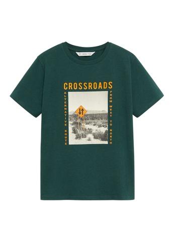 MANGO KIDS green Organic Printed Cotton T-Shirt F2698KA6815DA1GS_1