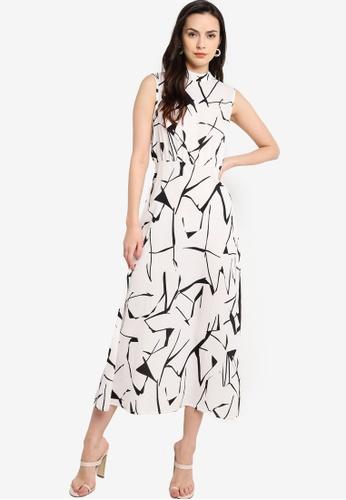 ZALORA WORK multi High Neck Sleeveless Dress 3B056AA63530A6GS_1