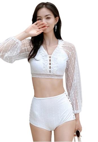 A-IN GIRLS white (2PCS) Sexy Lace Bikini Swimsuit 8C532US55F14C6GS_1