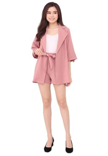 Michael's Collection pink 5542 - Setelan Blazer X HotPants 30F12AA255EB86GS_1