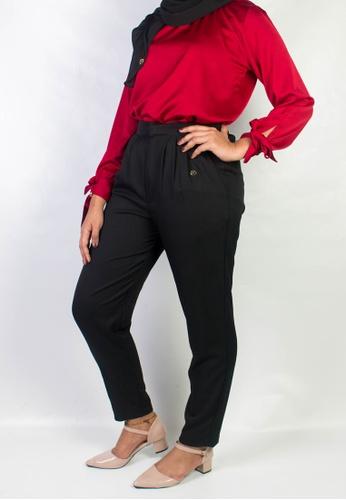 Zaryluq black Dress Pants in Espresso CE173AAC6EEFEEGS_1