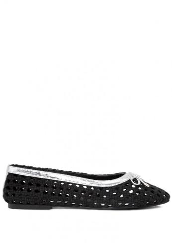 Rag & CO. black Brionna Cotton Mesh Flat Ballerinas 91EDESHF34C904GS_1