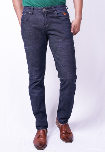 MILANO blue and navy Milano Jeans Long Pants Tight Fit Stretchable 64214AA0661447GS_1