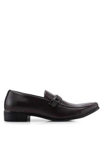 Bata 褐色 Buckle Detail 皮鞋 59139SH2BEC3D9GS_1