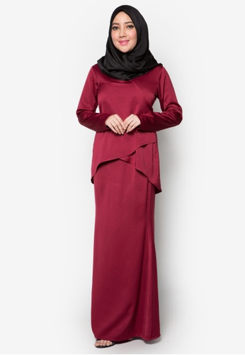 Kurung Moden Qhalisa from Amar Amran in Red