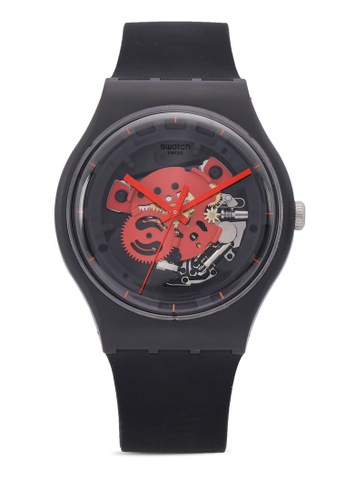 Swatch black Time To Red Big Watch 5E4C9AC3B6A821GS_1