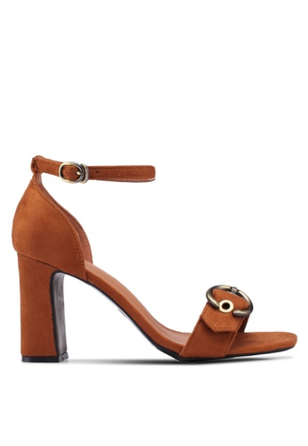 Something Borrowed 褐色 Eyelet Ankle Strap heels 8F1D4SH11EF607GS_1