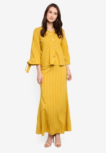 Soonaru yellow Amani Kurung 0CA4BAA1555AEAGS_1