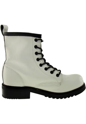 Maxstar Maxstar Women's 303 Lace Up Mid Calf PU Combat Boots US Women Size MA168SH26ADHHK_1