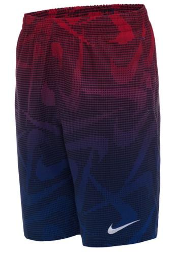 """Nike red Nike Swim Boy's Pixel Swoosh Breaker 8"""" Volley Short B7207USC797F85GS_1"""