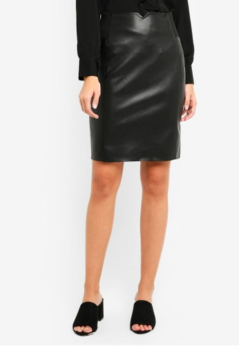 Vero Moda black Blair Butter Faux Leather Skirt 4B7F8AA2C10E85GS_1