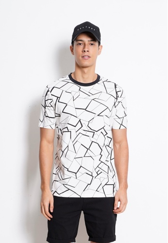 Hi Style Graphic Short Sleeve T-Shirt AB6B1AA4F3C73AGS_1